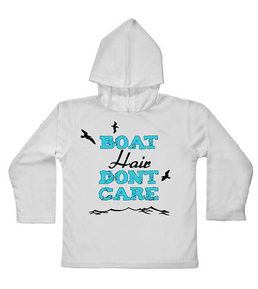 """""""Boat Hair Dont Care"""" Toddler Hooded LS"""