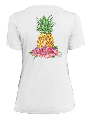 Ladies Tropical Pineapple Performance SS