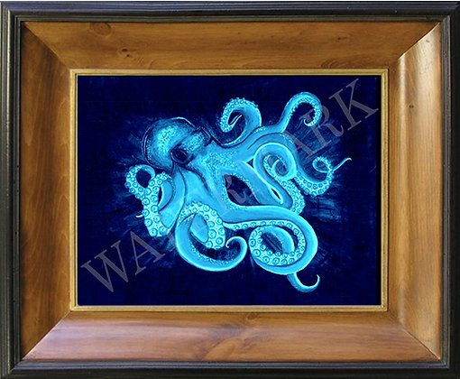 Teal Octopus on Canvas