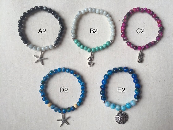Nautical Glass Bead Bracelets