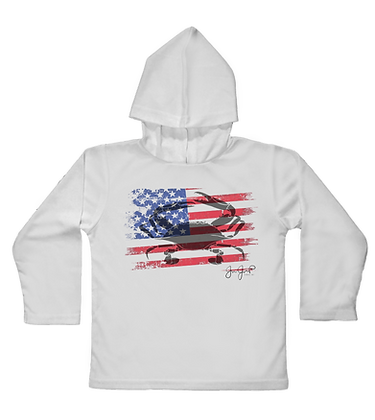 American Crab Toddler Hooded LS
