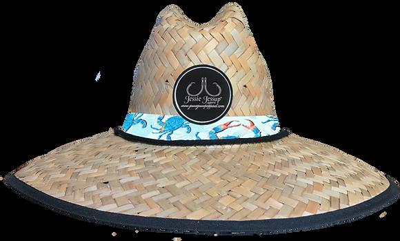 Blue Crab Straw Hat