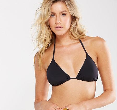 Black Wavy SEAMLESS Bikini Top