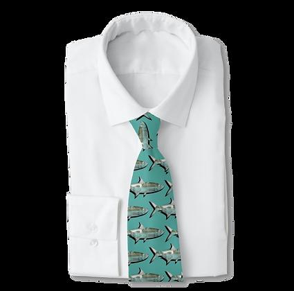 Teal Mangrove Tarpon Men's Work Tie