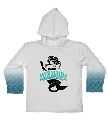 Mermaids Toddler Hooded LS
