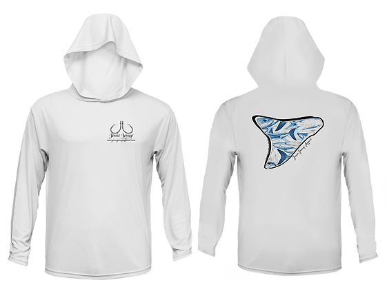 Youth Shark Frenzy Performance Hoodie