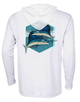 Sailing Into the Blue Performance Hoodie