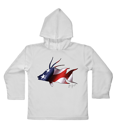 USA Hogfish Toddler Hooded LS Item #0735