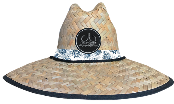 Blue Coral Straw Hat