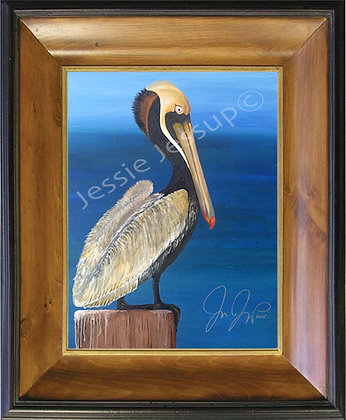Tropical Pelican on Canvas