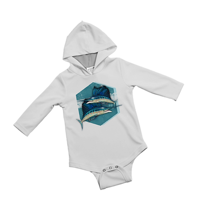 Sailing into the Blue Baby Onesie