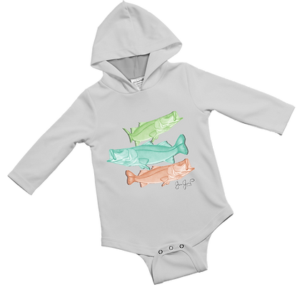 Snook Trio Baby Onesie