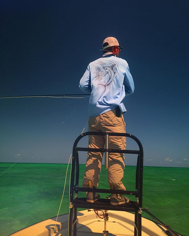 _chucks34u on the fly again representing our Columbia blue marlin performance shirt! Give him a foll