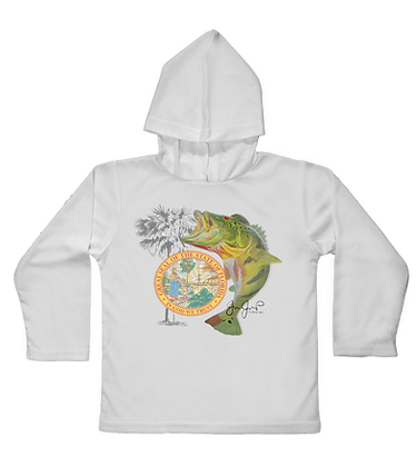 Peacock Bass Toddler Hooded LS