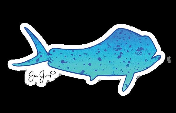 Blue Mahi Sticker