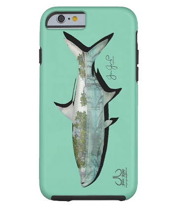 Mangrove Tarpon on Mint Tough Phone Case