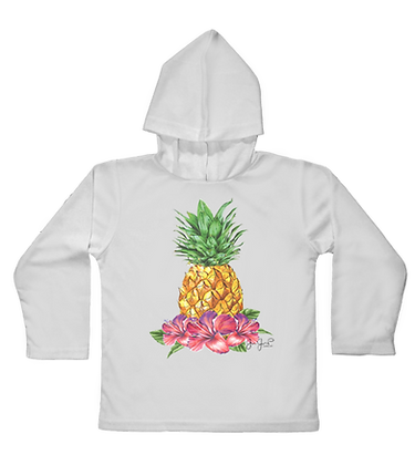 Tropical Pineapple Toddler Hooded LS