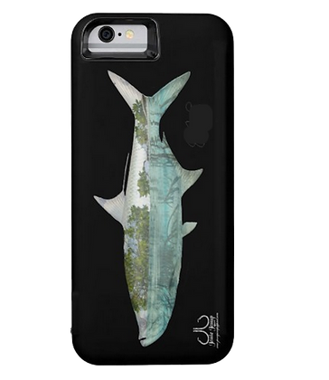 Mangrove Tarpon on black Battery IPhone 6 Case