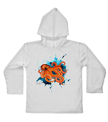 Octopus Toddler Hooded LS