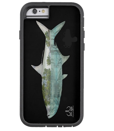 Mangrove Tarpon on black Extreme Phone Case