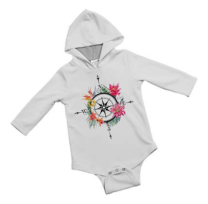 Islands Compass Baby Onesie
