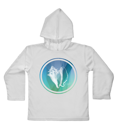 Conch Shell Toddler Hooded LS