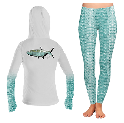 Ladies Tarpon Scales Hoodie SET
