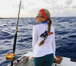 Ladies performance wear available in every design! #USA #tuna #ladies #vneck #ruler _emilycapabitch