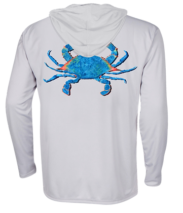 Blue Crab Performance Hoodie