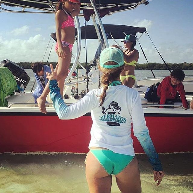 Our new mermaid performance long sleeves are a _got-to-have _ item for your boating days! Thanks _we