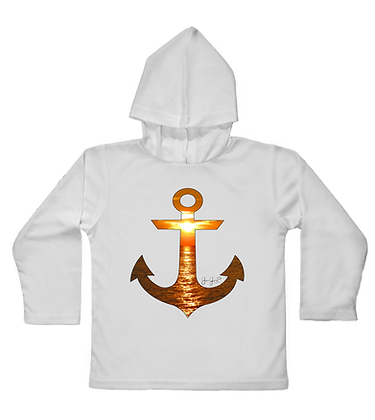 Sunset Anchor Toddler Hooded LS