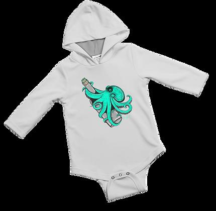Teal Kraken Baby Onesie
