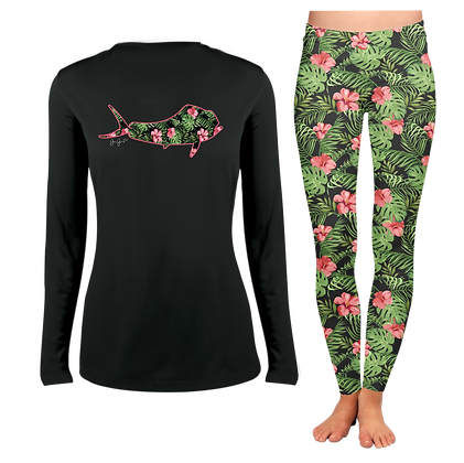 Ladies Black Maui LS SET