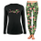 Thumbnail: Ladies Black Maui LS SET