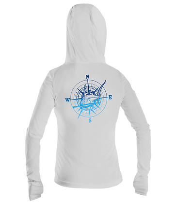 Ladies Hammerhead Compass Performance LS Hoodie