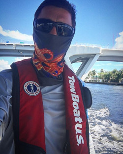 Even the TowBoat crew is always representing Jessie Jessup Apparel gear
