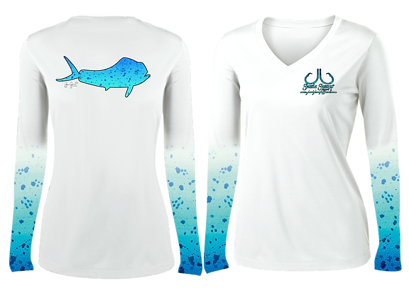 Ladies Blue Mahi Deluxe Performance LS Item #0732