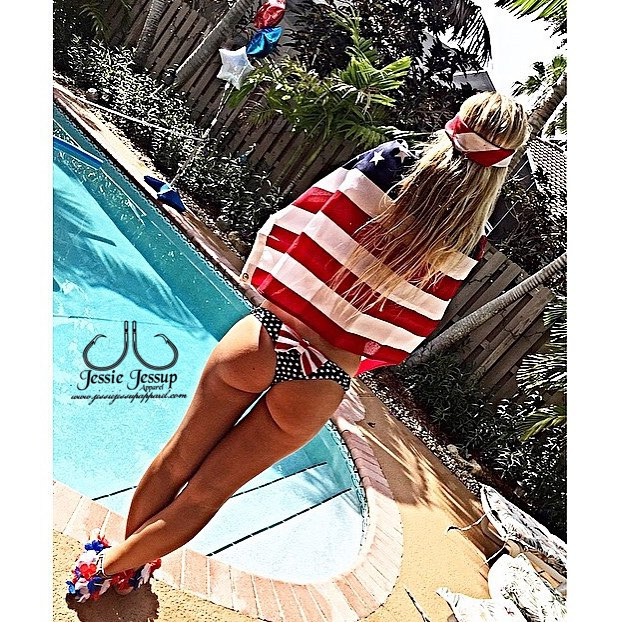 Shoutout to _errrkawalters for showing her Independence Day  spirit while wearing our Bow Bottom BIK