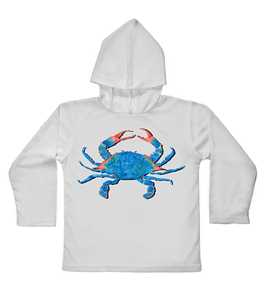 Blue Crab Toddler Hooded LS
