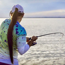 Featuring UPF 30-50+ sun protection, our performance shirts are a big must have for protecting your