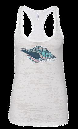 White Sally's Seashell Burnout Tank