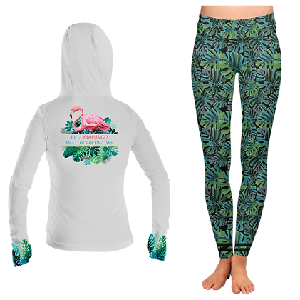Ladies Flamingo Hoodie SET