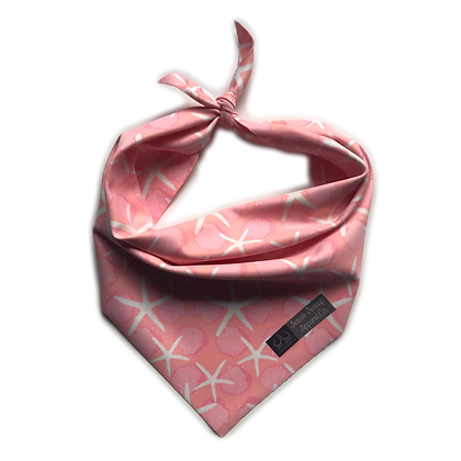 Pink Starfish Pet Bandana
