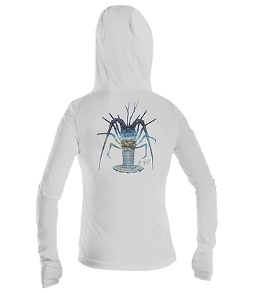 Ladies Lobster March Performance LS Hoodie