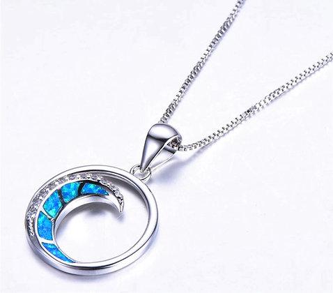 Wave Opal Necklace