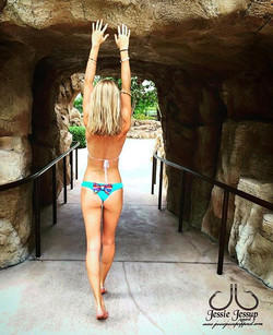 Give _pineapple_pey a follow for showing off our bow bottom Blue Aztec bikini. Only $14.99 at 🍍www.