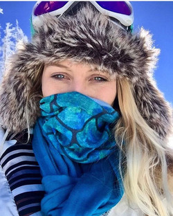 Even in the mountains we still have mermaids wearing our mermaid buff! Thanks for the send in _jenim