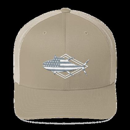 Patriotic Grey Tuna Mesh Trucker