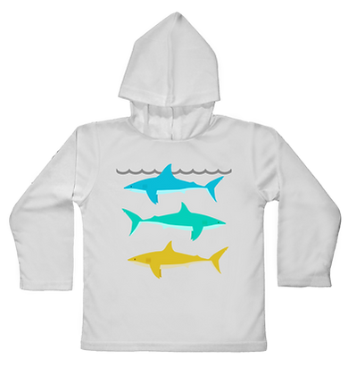 Reef Shark Hooded Toddler LS