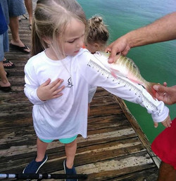 Even the kids can measure their fish! We have them available in baby onesies, toddler and youth size